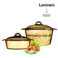 Bộ 2 nồi thuỷ tinh Luminarc Blooming Amberline 2L+3L LUBL2030