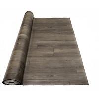 Thảm nhựa simili trải sàn vân gỗ màu xám siêu bền, chống nước tuyệt đối