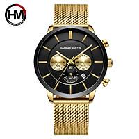Đồng hồ nam HANNAH MARTIN chính hãng - model HM-120 - chống nước tốt - bảo hành 1 nă