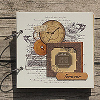 Scrapbook Retro Clock (20 x 20 cm)
