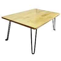 Bàn laptop xếp gỗ cao su 60x40 - TẶNG KÈM SỔ A7