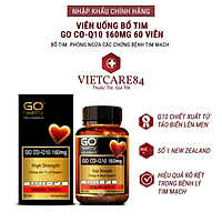 Viên uống bổ tim nhập khẩu chính hãng New Zealand GO CO Q10 160mg (60 viên) giảm quá trình lão hóa tim mạch, giảm nguy cơ tai biến tim mạch, giảm cholesterol máu, điều hòa huyết áp, tăng miễn dịch và giúp cơ thể khỏe mạnh