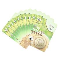 Bộ 10 gói mặt nạ dưỡng ẩm và chống lão hóa chiết xuất ốc sên 3W Clinic Fresh Snail Mask Sheet (23ml x 10) - Hàn Quốc Chính Hãng