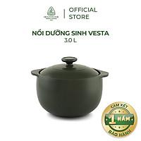 Nồi sứ dưỡng sinh Minh Long - Vesta 3.0 L + nắp