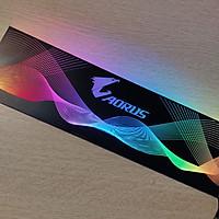Tấm che nguồn PC Led 5v ARGB logo Aorus, đồng bộ màu Mainboard hoặc bộ Hub khiển quạt, thiết kế hình sóng vô cực - Hàng nhập khẩu
