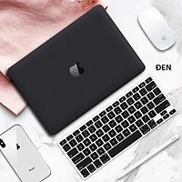 COMBO 3in1 - Case, ốp kèm phủ phím dành cho Macbook - Màu Đen [Tặng kèm nút chống bụi Macbook - Màu ngẫu nhiên] - Hàng chính hãng