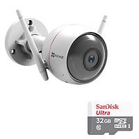 Camera Wifi Ngoài Trời Husky Air CS-CV310 EZVIZ 1.0MP Và Thẻ Nhớ 32GB - Tặng Kèm Tai Nghe Bluetooth - Hàng chính hãng