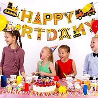 Bộ Dây Trang Trí Sinh Nhật Chữ Happy Birthday Thiết Kế Hoạt Hình