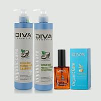 Combo Bộ dầu gội xả phục hồi giữ màu Diva 500ml