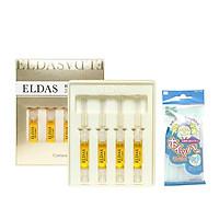 Hộp 4 ống tế bào gốc Eldas EG Tox Program Coreana 2ml x4 +Tặng Kèm 1 Túi Lưới Rửa Mặt Tạo Bọt