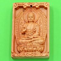 Mặt gỗ hoàng đàn Phật A Di đà MGPBM7 - Phật bản mệnh tuổi Tuất, Hợi - Phù hộ độ trì, đem lại may mắn, bình an