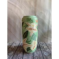 lọ gốm vẽ hoa lan và thiên điểu cỡ to