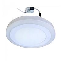 Đèn Led ốp trần 12w +4w tròn nổi 2 màu 3 chế độ sáng trắng+xanh LP-RoW12-B4