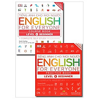 Combo Tiếng Anh Cho Mọi Người - English For Everyone - Level 1 Beginner - Course Book + Practice Book (Kèm CD)