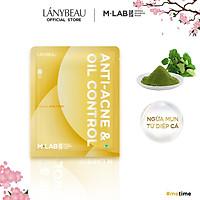 Mặt nạ dưỡng da ngừa mụa, kiếm soát dầu M-Lab Derma Bamboo LÁNYBEAU (28g/miếng)
