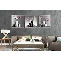 Tranh treo phòng khách-Tranh treo tường BÌnh Hoa H26794 /Gỗ MDF cao cấp phủ kim sa/ Chống ẩm mốc, mối mọt/Bo viền góc tròn
