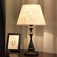 Đèn ngủ  Mingyu hoàng gia phong cách sang trọng, tinh tế chân đèn bằng kim loại, mũ đèn bằng vải (hàng nhập khẩu)