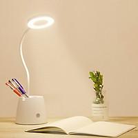 Đèn đọc sách, làm việc chống cận kiêm giá để bút, diện thoại