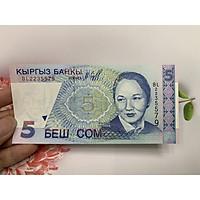 Tờ tiền cổ 5 Kyrgyzstan - ở Trung Á - tặng phơi nylon bảo quản tiền