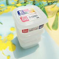 Set 03 hộp nhựa Nakaya 200ml bảo quản thức ăn trong rủ lạnh, có nắp mềm - Nội địa Nhât
