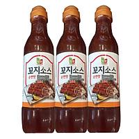 Combo 3 chai Nước sốt thịt xiên Chungwoo vị ngọt x 460g/chai