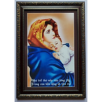 Tranh in dầu - Đức mẹ bồng con