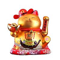 Mèo thần tài vẫy tay Vàng-Tài Lộc Vô Biên 9001-24cm