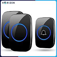 Chuông cửa không dây thông minh Horizen 1 nút bấm 2 chuông báo, chống nước khoảng cách sử dụng trong 300M - Horizen CH-02