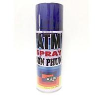 Sơn Xịt ATM Spray A216 Xanh Đen cao cấp , dễ sử dụng, bền màu, lâu trôi