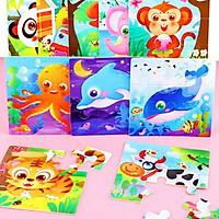 Tranh ghép gỗ 9 miếng nhiều hình động vật đa dạng đáng yêu đủ màu sắc cho bé yêu – DC019