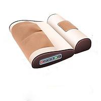 Bộ gối massage cổ hỗ trợ điều trị đau mỏi vai gáy + Tặng kèm 1 bộ Máy massage cầm tay