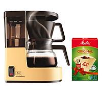 Máy pha cà phê giấy lọc Aromaboy tặng kèm Giấy lọc Melitta 100 Brown - Hàng nhập khẩu