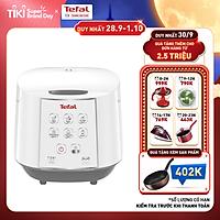 Nồi cơm điện tử Tefal RK733168 - 1.8L 750W - Lòng nồi niêu vân đá cao cấp - Giữ ấm 12 tiếng - Công nghệ Fuzzy Logic - Hàng chính hãng