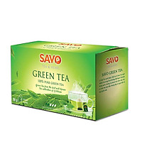 Trà Xanh SAVO (Green Tea) - Hộp 25 Gói x 2g