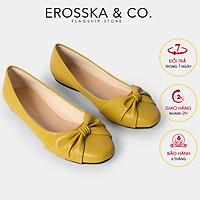 Giày búp bê thời trang Erosska mũi tròn phối nơ thắt ngang kiểu dáng Hàn Quốc EF008