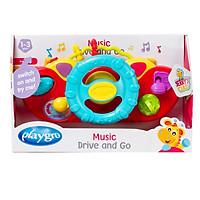 Đồ chơi vô lăng phát nhạc Playgro Music Drive and Go, cho bé 12-36 tháng