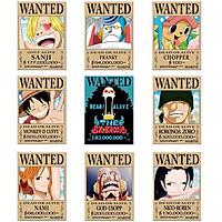 Bộ 10 Tấm Anime Gồm 9 Tấm poster và 1 Áp Phích ( One Piece )