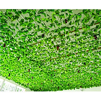 Dây leo lá giả, combo 12 dây lá thường xuân nhân tạo trang trí ban công, sân vườn, nhà cửa, quán cà phê, cửa hàng (tặng 20 dây thít nhựa xanh)