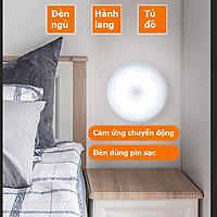 Đèn cảm ứng chuyển động, Đèn Led dán tường cảm biến thông minh không dây dán tủ quần áo, cầu thang, phòng ngủ...