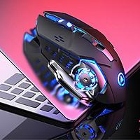 Chuột máy tính không dây A4 sạc được pin, phù hợp cho chơi game và văn phòng, thiết kế đẹp mắt, đèn Led nổi bật- Hàng nhập khẩu