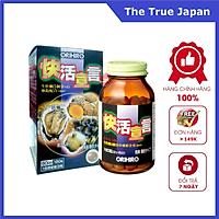 Thực phẩm chức năng tăng cường sinh lý nam giới, thải độc gan: Tinh chất hàu tươi, tỏi, nghệ Orihiro Nhật Bản (180 viên)