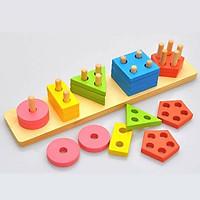 Thả hình 3D - giáo cụ Montessori SK