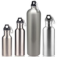 17.08/25.62/34.16/61.49 Oz Sports Water Bottles Stainless Steel Single-Layer Water Bottle Keeps Cold for Cycling Biking Outdoor Activities
