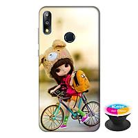 Ốp lưng cho điện thoại Asus Zenfone Max Pro M2 hình Cô Bé và Xe Đạp Mẫu 1 tặng kèm giá đỡ điện thoại iCase xinh xắn - Hàng chính hãng