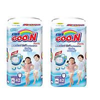 Combo 2 bịch tã quần Goo.n Premium super jumbo XL42 miếng