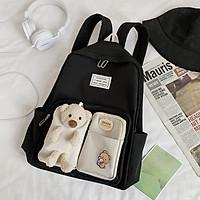 Balo Đi Học Gấu Mori Dễ Thương Chuyên Dùng Cho Học Sinh Để Laptop A4, Vải Mềm Mịn Bền Bỉ