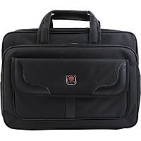 Cặp đựng laptop, túi đựng laptop sách vở, tài liệu Sao vàng C01 (Tặng túi du lịch PĐ) 27 x 39 x 15cm Vải Đẹp, Lót Lụa.