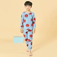 Bộ đồ dài tay mặc nhà cotton mịn cho bé trai U1014- Unifriend Hàn Quốc, Cotton Organic