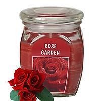 Hũ nến thơm tinh dầu Bolsius Rose garden 305g QT024372 - vườn hoa hồng