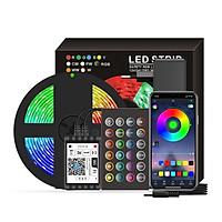 Dải đèn led thông minh RGB 16,4ft thay đổi màu 5050 điểu khiển bằng app và nút bấm